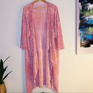 LuLaRoe Pink Accordion Kimono